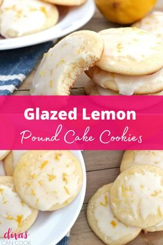 FLUFFY LEMON POUND CAKE COOKIES WITH BIG FRESH LEMON FLAVOR. TASTE LIKE A POUND CAKE IN COOKIE FORM! Easy Cookie Recipes, Snack Recipes, Cooking Recipes, Lemon Glazed Cookies, Cake Mix Cookies, My Dessert, Homemade Cookies, Easy Snacks, Pound Cake