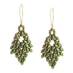 Glistening Oak Earrings | Fusion Beads Inspiration Gallery