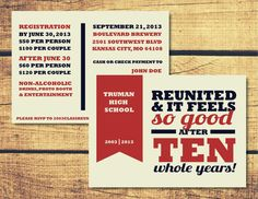 High School Reunion Invitation Package l Patriot by HUSHartco, $15.00