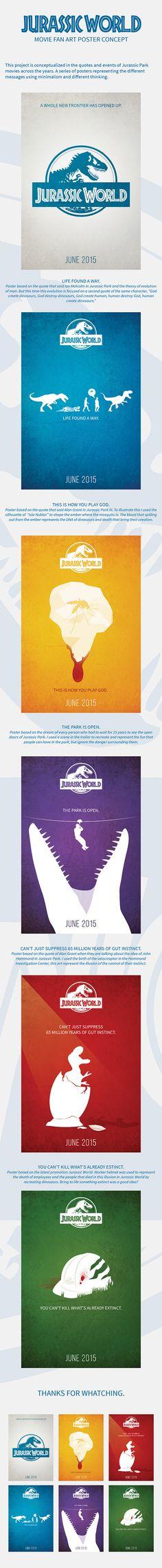 Jurassic World: Fan Art Posters Concept on Behance