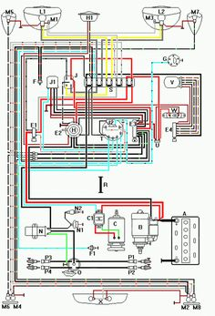 1965 vw wiring diagram | 1965 volkswagen type-1 beetle diy ... 1970 vw beetle charging wiring diagram