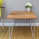 Elm Side Table With Resin Detail