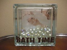 I love the look of the pictures behind the glass block that seems to be quite popular these days. I used a picture a Steel when he w...