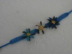 braccialetto seta lavorato a mano ad ago - silk flowers bracelet