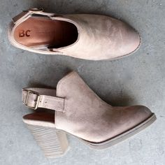 bc footwear like clockwork clog in taupe