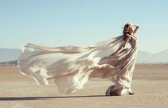 Chris Callaway - this but with a colored dress and in the sand dunes in new mexico