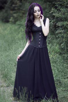 Ladie's Gothic Steampunk Clothing Skirt Lace Up Retro Victorian Punk Cincher Vintage Long Ruffle Skirt Gothic Girls, Hot Goth Girls, Death Metal, Steam Punk, Cyberpunk, Rockabilly, Darya Goncharova, Heavy Metal Girl, Grunge