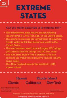 Worksheets: Extreme U.S. State Trivia