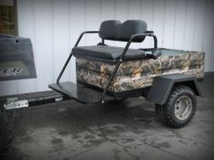 """Determine additional info on """"hunting atv"""". Visit our site. 4 Wheeler Accessories, Atv Accessories, Passengers Trailer, Hunting Trailer, Quail Hunting, Hunting Camo, Utility Trailer, Quad Trailer, Atv Trailers"""