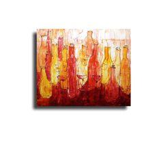 Vino  Bottles  Original Oil /  Canvas / Drawing by Kunstmuellerei, €390.00