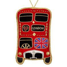 Buy Tinker Tailor Tourism Union Jack London Bus Hanging Decoration Online at johnlewis.com