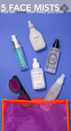 The only thing getting us through the dog days of summer (besides frozen margs): these refreshing face mists that are packed with nourishing skincare ingredients that boost your complexion *and* magically get your makeup to look better.