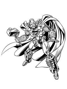 Steel by Jose Luis Garcia-Lopez Garcia Lopez, Adventures Of Superman, Hawkgirl, Dc Comics Characters, Comic Character, Comic Art, African, Steel, Artist