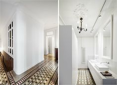 Eixample Apartment | Rue DREAM HOME: Eixample Apartment, Spain Bold tile and floor to ceiling windows make this Spanish space something to swoon over.