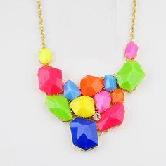 Rainbow fashion necklace via Sandra Maria.