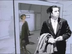take on me, never can tell… - (aha)(music video)(rotoscoping)(john travolta)(pulp fiction)(confused)(remix) - #aha #takeonme #musicvideo #rotoscoping #johntravolta #pulpfiction #confused #remix #vidcap #animatedgif