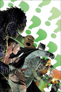 Images and videos of the arrogant and egotistical mastermind known as the Riddler from DC Comics. Dc Comic Books, Comic Book Artists, Comic Book Characters, Gotham Villains, Univers Dc, Comic Art Community, Arte Dc Comics, I Am Batman, Batman Stuff