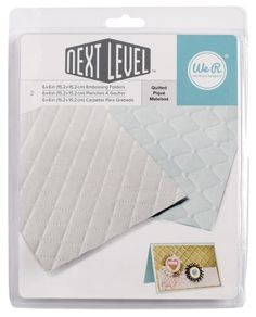 We R Memory Keepers QUILTED Next Level Embossing Folders 662674 zoom image