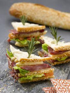 Mini Club sandwich  asperge magret