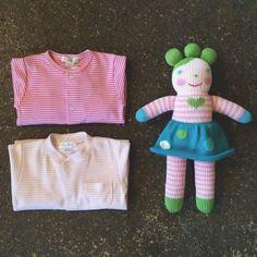 everyone in pink stripes! #littlerootwearables #kissykissybaby