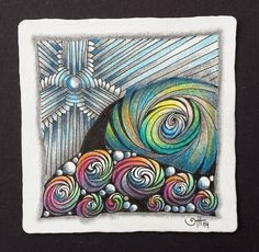 """Weekly Challenge #197: """"New Official Tangle - Arukas""""   Last weekend a new official tangle was announce in the Zentangle Newsletter - it'..."""