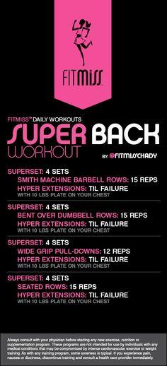 FitMiss Super Back Workout