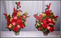 How to make DIY silk flower arrangements. Great tips!
