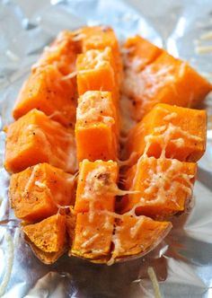 Easy 15 Minute Roasted Sweet Potatoes by layersofhappiness (Sweet Recipes Fast) Vegetable Dishes, Vegetable Recipes, Vegetarian Recipes, Cooking Recipes, Healthy Recipes, Vegetable Curry, Easy Recipes, Oven Recipes, Drink Recipes