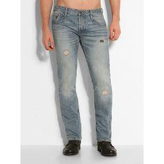 Jeans Slim Straight Bleached Lesson    Ein atemberaubendes starkes Stück: Die Slim-Fit-Jeans ist immer angesagt, wenn es um einen dynamischen Look geht. Vergangenheit und Zukunft treffen hier mit der Used-Optik und dem unnachahmlichen Style aufeinander.    Used-Optik mit Abriebstellen.  Coin Pocket mit Logodreieck.  Innere Beinlänge ca. 81 cm.  100% Baumwolle.  12,25-oz-Denim.  Maschinenwäsche ...