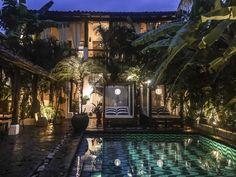 Tribal Hotel, Granada - Nicarágua. Projetados pelos próprios proprietários Jean-Marc Houmard e Yvan Cussigh