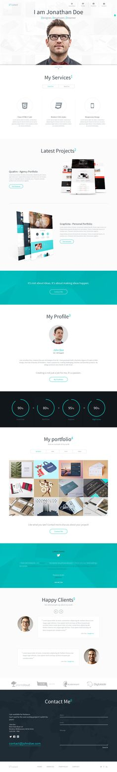 D-cubed is a modern #onepage personal #portfolio template. It is the perfect solution for Web Designers, Graphic Designers and any kind of creative people. D-cubed is built on #Bootstrap v3.3.2 and packed with great features to download  click on the image.
