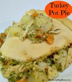 Turkey Pot Pie is the perfect comfort food!  This recipe is a great way to use your Turkey leftovers.