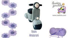 Tutorial Vespa Ganchillo / Vespa Crochet * Parte 1: Chasis Vespa * Saekita Ganchillo
