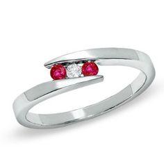 ruby with diamond