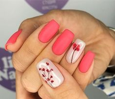 Stylish Spring Flower Nail Art Designs and Ideas 2019 - Jessica - Nails Desing Flower Nail Designs, Cute Nail Art Designs, Flower Nail Art, Nail Designs Spring, Acrylic Nail Designs, Acrylic Nails, Acrylic Colors, Floral Designs, Acrylic Spring Nails