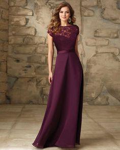 Resultado de imagen para vestido rojo vino de gala