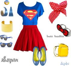 """""""Super"""" by akajules on Polyvore #outfit #mystyle #supergirl"""