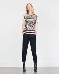 ZARA - WOMAN - TILE PRINT T-SHIRT £12.99