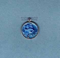 Vintage Enamel Sterling Silver English Saint St Christopher Medal Charm - $35.95US (offers considered)