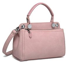 5ecdad77c004 Crossbody Bag for Women- Faux Leather Shoulder Bag Purse with Top Handle -  Pink - Bags