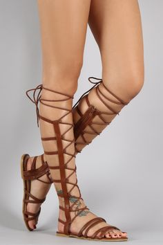 66b8ac2ad980 Shop Elasticized Straps Lace Up Sandal. This gladiator sandal features an  open toe