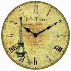 Infinity Instruments Boutique Eiffel Tower Tribute Paris Clock with Roman Numerals Paris Tour, Paris 3, Paris Style, Tour Eiffel, Decopage, Kitchen Wall Clocks, Tabletop Clocks, Vintage Labels, Vintage Ephemera