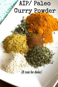 AIP/ Paleo Curry Powder Blend - no nightshades or seed spices Autoimmune Diet, Aip Diet, Paleo Sauces, Paleo Recipes, Savoury Recipes, Paleo Curry, Nightshade Free Recipes, Nightshade Vegetables, Comfort Food