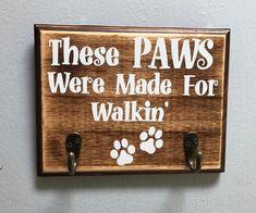 Handmade Dog Leash Holder on Mercari Dog Crafts, Animal Crafts, Diy Pallet Projects, Wood Projects, Dog Leash Holder, Wood Dog, Diy Wood Signs, Animal Projects, Diy Stuffed Animals