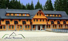 Novootvorený Hotel Kristína**** na Orave Cabin, House Styles, Home Decor, Decoration Home, Room Decor, Cabins, Cottage, Home Interior Design, Wooden Houses