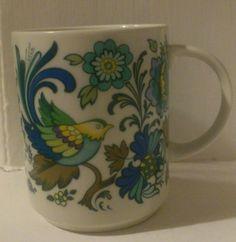 #Royal doulton everglades coffee mug england vtg #retro bird flower blue #green,  View more on the LINK: http://www.zeppy.io/product/gb/2/351696142377/