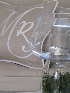glass jar with silver candle! Love