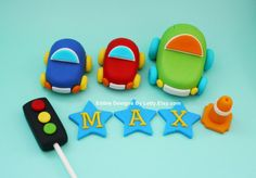 Edible Fondant Car Cake Toppers by EdibleDesignsByLetty on Etsy, $28.00