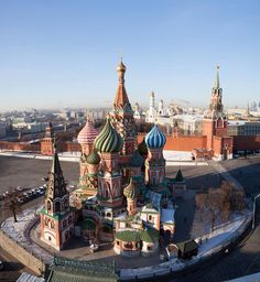 Saint Basil's Cathedral, Moscow, Russia; year consecrated – 1561.