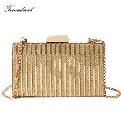 eb5d460181e Gold Diamonds women evening clutch Hard Box Handbag Now available at Yuyu  Fashion Online Store with